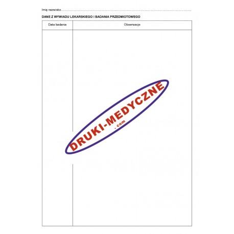 Karta do badań sanitarno-epidemiologicznych