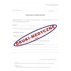 Skierowanie na badania lekarskie dla nauczycieli
