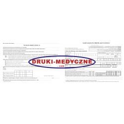 Karta badania profilaktycznego 2xA5