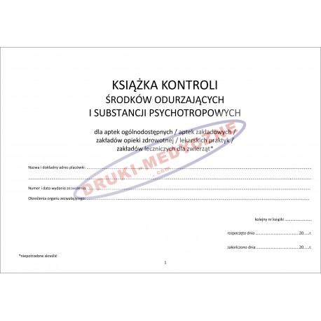 Książka Kotroli Środków Odurzających i Substancji Psychotropowych