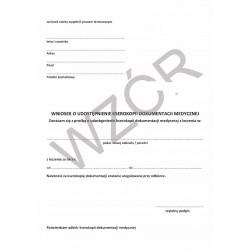 Wniosek o udostępnienie kserokopii dokumentacji medycznej