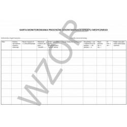 Karta monitorowania procesów dekontaminacji sprzętu medycznego