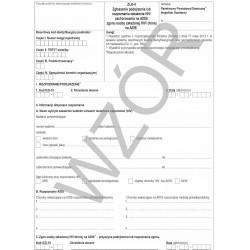 Zgłoszenie podejrzenia lub rozpoznania zakażenia HIV/zachorowania na AIDS/zgonu osoby zakażonej HIV/ chorej na AIDS ZLK-4