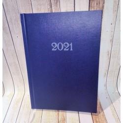 Kalendarz Dzienny 2021, Kalendarz Książkowy 2021, Kalendarz Dzienny Książkowy 2021, weekendy na 2 stronach