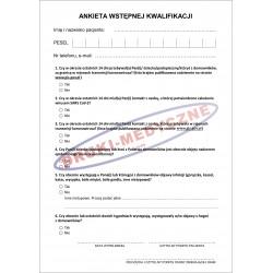 Ankieta wstępnej kwalifikacji